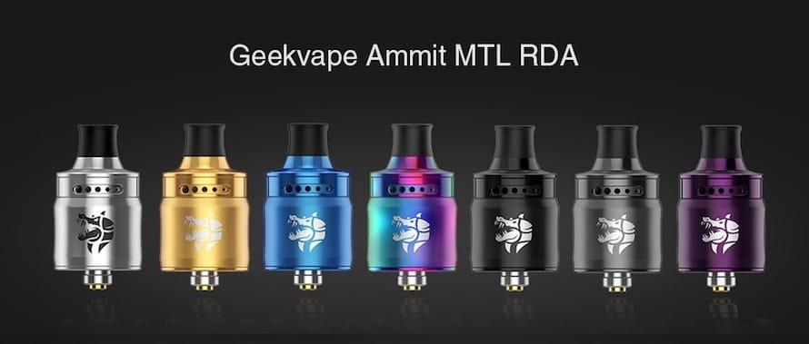 GeekVape Ammit MTL RDA カラーバリエーション