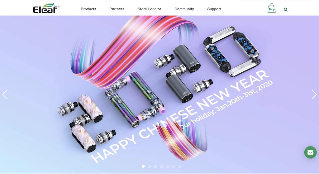 eleaf公式サイト